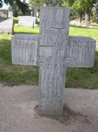 LECHER, MELVIN WILLIAM - Dawes County, Nebraska | MELVIN WILLIAM LECHER - Nebraska Gravestone Photos