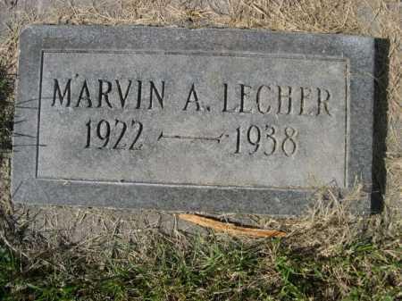 LECHER, MARVIN A.. - Dawes County, Nebraska   MARVIN A.. LECHER - Nebraska Gravestone Photos