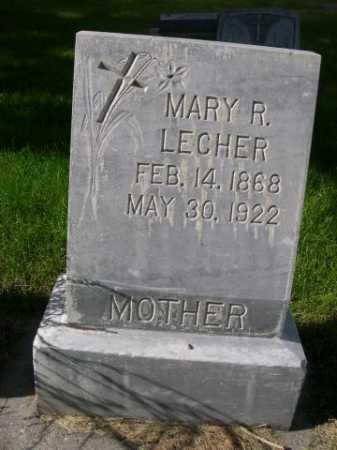 LECHER, MARY R. - Dawes County, Nebraska | MARY R. LECHER - Nebraska Gravestone Photos