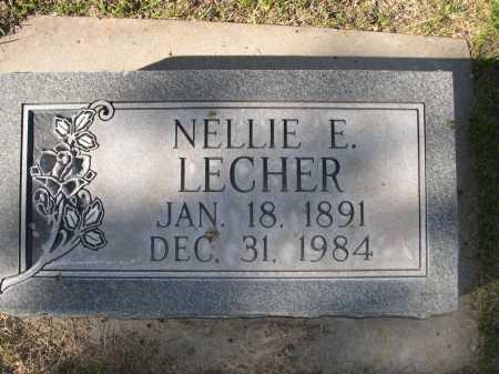 LECHER, NELLIE E. - Dawes County, Nebraska | NELLIE E. LECHER - Nebraska Gravestone Photos