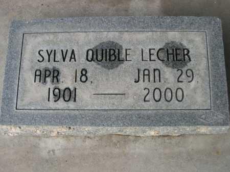 LECHER, SYLVA QUIBLE - Dawes County, Nebraska | SYLVA QUIBLE LECHER - Nebraska Gravestone Photos