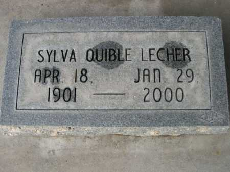 LECHER, SYLVA QUIBLE - Dawes County, Nebraska | SYLVA QUIBLE LECHER - Nebraska Gravestone Photos