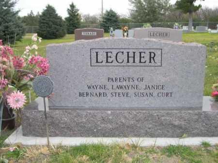 LECHER, TOMMY - Dawes County, Nebraska   TOMMY LECHER - Nebraska Gravestone Photos