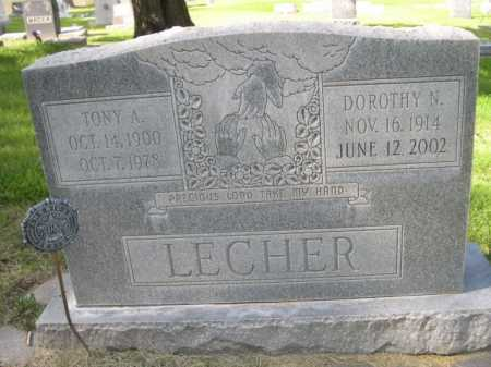 LECHER, DOROTHY N. - Dawes County, Nebraska   DOROTHY N. LECHER - Nebraska Gravestone Photos