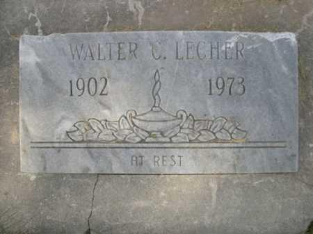 LECHER, WALTER C. - Dawes County, Nebraska   WALTER C. LECHER - Nebraska Gravestone Photos