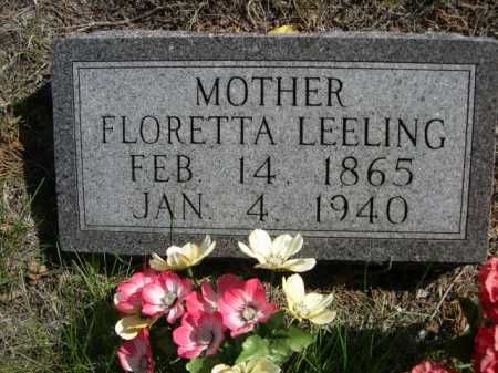 LEELING, FLORETTA - Dawes County, Nebraska | FLORETTA LEELING - Nebraska Gravestone Photos