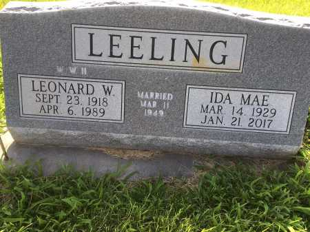 LEELING, LEONARD W. - Dawes County, Nebraska | LEONARD W. LEELING - Nebraska Gravestone Photos