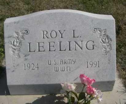 LEELING, ROY L. - Dawes County, Nebraska | ROY L. LEELING - Nebraska Gravestone Photos
