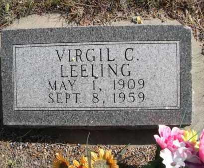 LEELING, VIRGIL C. - Dawes County, Nebraska   VIRGIL C. LEELING - Nebraska Gravestone Photos