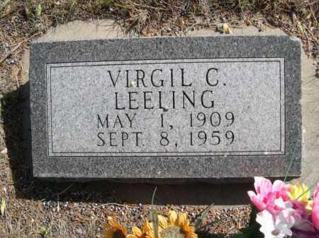 LEELING, VIRGIL C. - Dawes County, Nebraska | VIRGIL C. LEELING - Nebraska Gravestone Photos