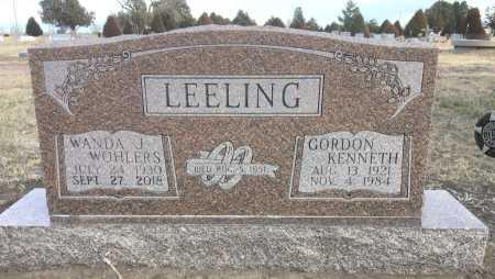 LEELING, GORDON KENNETH - Dawes County, Nebraska | GORDON KENNETH LEELING - Nebraska Gravestone Photos