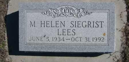 SIEGRIST LEES, M. HELEN - Dawes County, Nebraska | M. HELEN SIEGRIST LEES - Nebraska Gravestone Photos