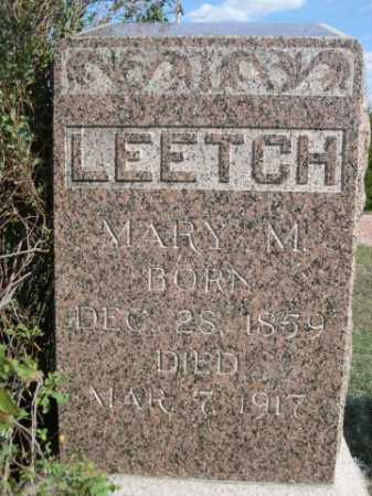 LEETCH, MARY M. - Dawes County, Nebraska | MARY M. LEETCH - Nebraska Gravestone Photos