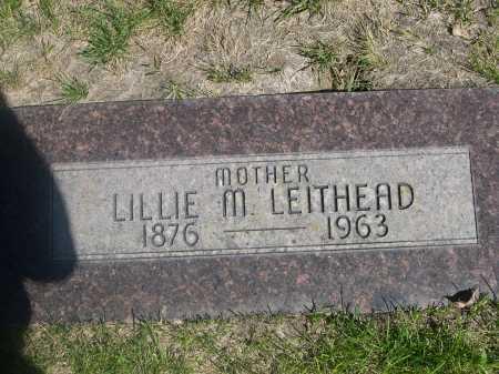 LEITHEAD, LILLIE M. - Dawes County, Nebraska   LILLIE M. LEITHEAD - Nebraska Gravestone Photos