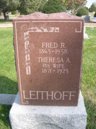 LEITHOFF, FRED R. - Dawes County, Nebraska | FRED R. LEITHOFF - Nebraska Gravestone Photos