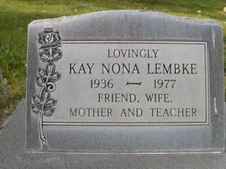 LEMBKE, KAY NONA - Dawes County, Nebraska | KAY NONA LEMBKE - Nebraska Gravestone Photos