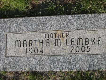 LEMBKE, MARTHA M. - Dawes County, Nebraska | MARTHA M. LEMBKE - Nebraska Gravestone Photos