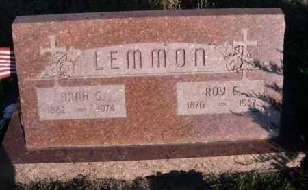 LEMMON, ROY E. - Dawes County, Nebraska | ROY E. LEMMON - Nebraska Gravestone Photos