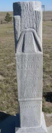 LEMMON, ELISON A. - Dawes County, Nebraska | ELISON A. LEMMON - Nebraska Gravestone Photos