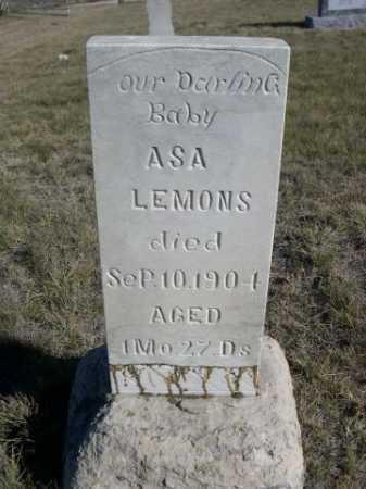 LEMONS, ASA - Dawes County, Nebraska | ASA LEMONS - Nebraska Gravestone Photos
