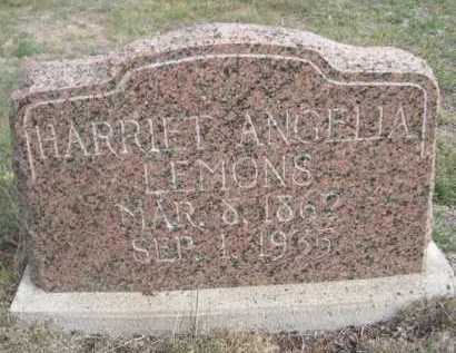 LEMONS, HARRIET ANGELIA - Dawes County, Nebraska | HARRIET ANGELIA LEMONS - Nebraska Gravestone Photos