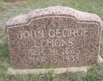 LEMONS, JOHN GEORGE - Dawes County, Nebraska | JOHN GEORGE LEMONS - Nebraska Gravestone Photos