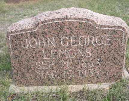 LEMONS, JOHN GEORGE - Dawes County, Nebraska | JOHN GEORGE LEMONS - Nebraska Gravestone Photos
