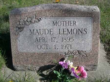 LEMONS, MAUDE - Dawes County, Nebraska | MAUDE LEMONS - Nebraska Gravestone Photos