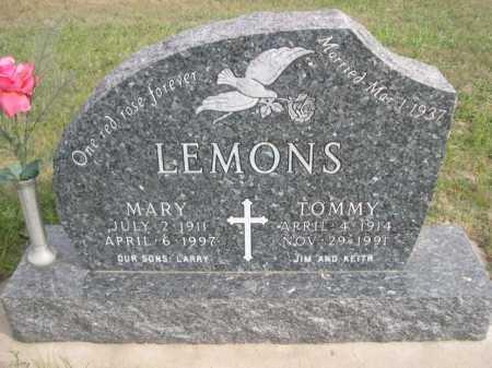 LEMONS, TOMMY - Dawes County, Nebraska | TOMMY LEMONS - Nebraska Gravestone Photos