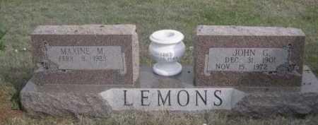 LEMONS, JOHN G. - Dawes County, Nebraska | JOHN G. LEMONS - Nebraska Gravestone Photos