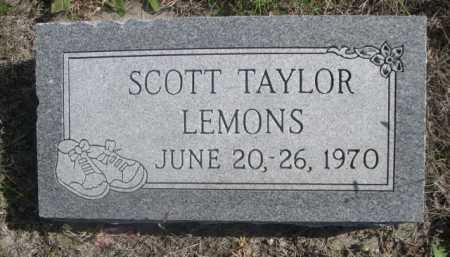 LEMONS, SCOTT TAYLOR - Dawes County, Nebraska | SCOTT TAYLOR LEMONS - Nebraska Gravestone Photos