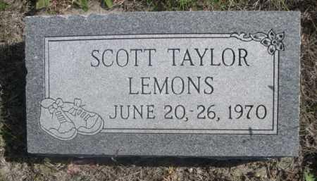 LEMONS, SCOTT TAYLOR - Dawes County, Nebraska | SCOTT TAYLOR LEMONS - Nebraska Gravestone Photos