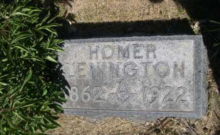 LENINGTON, HOMER - Dawes County, Nebraska | HOMER LENINGTON - Nebraska Gravestone Photos