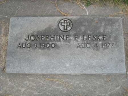 LESKE, JOSEPHINE F. - Dawes County, Nebraska   JOSEPHINE F. LESKE - Nebraska Gravestone Photos