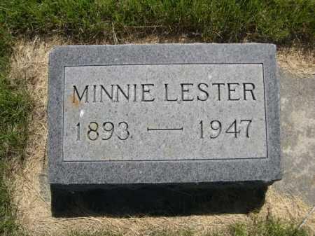 LESTER, MINNIE - Dawes County, Nebraska   MINNIE LESTER - Nebraska Gravestone Photos