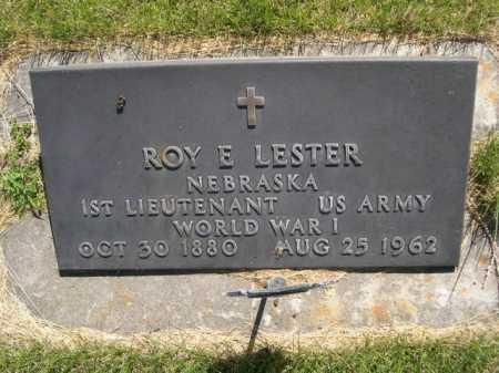LESTER, ROY E. - Dawes County, Nebraska   ROY E. LESTER - Nebraska Gravestone Photos