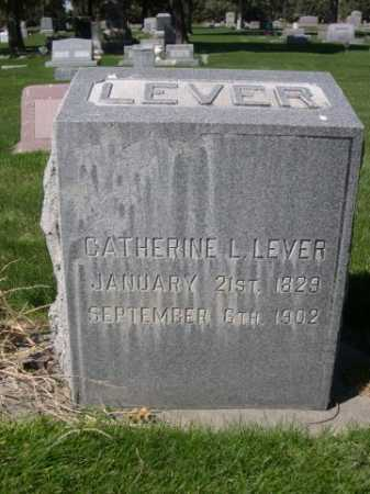 LEVER, CATHERINE L. - Dawes County, Nebraska | CATHERINE L. LEVER - Nebraska Gravestone Photos