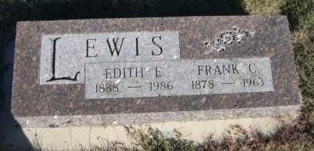 LEWIS, EDITH E. - Dawes County, Nebraska | EDITH E. LEWIS - Nebraska Gravestone Photos