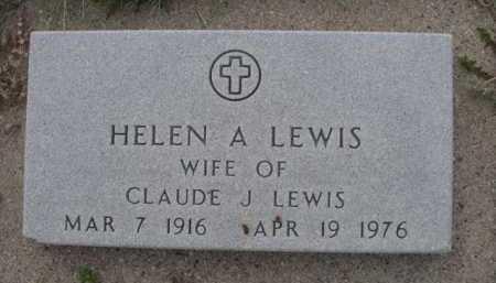 LEWIS, HELEN A. - Dawes County, Nebraska   HELEN A. LEWIS - Nebraska Gravestone Photos