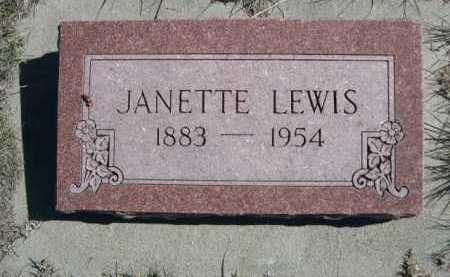 LEWIS, JANETTE - Dawes County, Nebraska | JANETTE LEWIS - Nebraska Gravestone Photos
