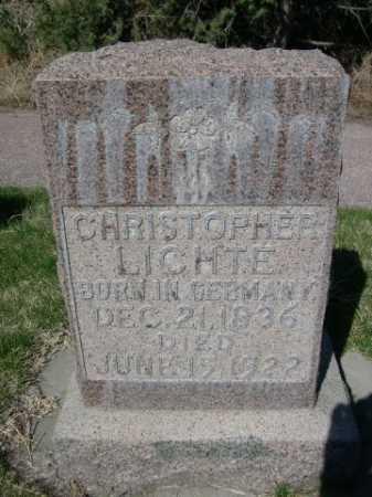 LICHTE, CHRISTOPHER - Dawes County, Nebraska   CHRISTOPHER LICHTE - Nebraska Gravestone Photos
