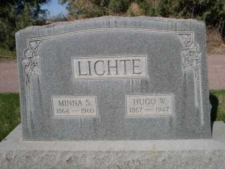 LICHTE, HUGO W. - Dawes County, Nebraska | HUGO W. LICHTE - Nebraska Gravestone Photos