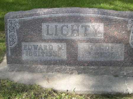 LICHTY, EDWARD M. - Dawes County, Nebraska | EDWARD M. LICHTY - Nebraska Gravestone Photos