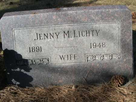 LICHTY, JENNY M. - Dawes County, Nebraska | JENNY M. LICHTY - Nebraska Gravestone Photos
