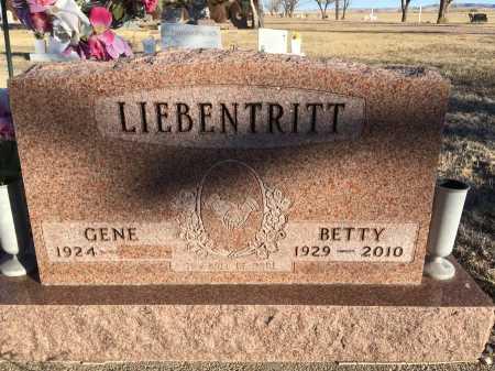 LIEBENTRITT, BETTY - Dawes County, Nebraska | BETTY LIEBENTRITT - Nebraska Gravestone Photos