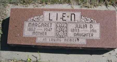 LIEN, JULIA D. - Dawes County, Nebraska | JULIA D. LIEN - Nebraska Gravestone Photos