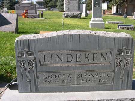 LINDEKEN, SUSANNAH C. - Dawes County, Nebraska   SUSANNAH C. LINDEKEN - Nebraska Gravestone Photos