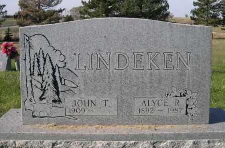 LINDEKEN, ALYCE R. - Dawes County, Nebraska | ALYCE R. LINDEKEN - Nebraska Gravestone Photos