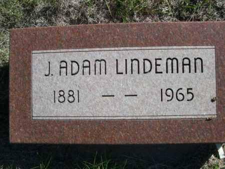 LINDEMAN, J. ADAM - Dawes County, Nebraska   J. ADAM LINDEMAN - Nebraska Gravestone Photos