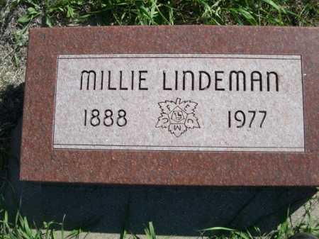 LINDEMAN, MILLIE - Dawes County, Nebraska | MILLIE LINDEMAN - Nebraska Gravestone Photos
